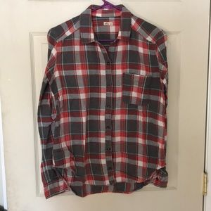 Plaid flannel hollister shirt
